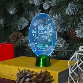 """Подставка световая """"Снеговик"""", 14.5х7.5 см, (батарейки в компл.), 1 LED, RGB микс"""