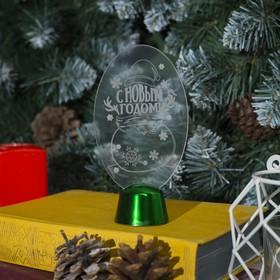 """Подставка световая """"Снеговик"""", 14.5х7.5 см, (батарейки в компл.), 1 LED, RGB микс - фото 1584060"""