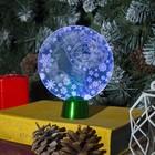 """Подставка световая """"Олень"""", 13.5х11 см, 1 LED, батарейки в комплекте, RGB"""