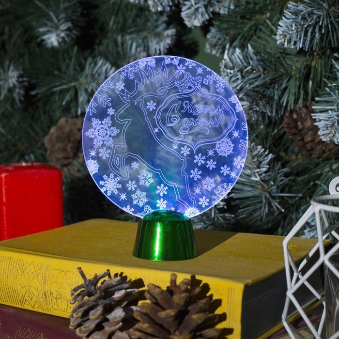 """Подставка световая """"Олень"""", 13.5х11 см, (батарейки в компл.), 1 LED, RGB"""