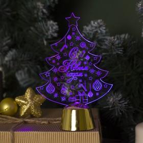 """Подставка световая """"Елочка с подарками"""", 14х9.5 см, (батарейки в компл.), 1 LED, RGB"""