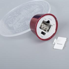 "Подставка световая ""Елочка с часами"", 14х9.5 см, (батарейки в компл.), 1 LED, RGB микс - фото 1584120"