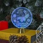 """Подставка световая """"Снегирь"""", 13.5х11 см, (батарейки в компл.), 1 LED, RGB микс - фото 1584134"""
