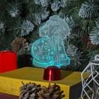 """Подставка световая """"Дед Мороз, Олень в шаре"""", 14.5х9 см, 1 LED, RGB микс - фото 1584151"""