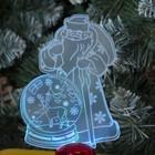 """Подставка световая """"Дед Мороз, Олень в шаре"""", 14.5х9 см, 1 LED, RGB микс - фото 1584153"""