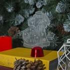 """Подставка световая """"Дед Мороз, Олень в шаре"""", 14.5х9 см, 1 LED, RGB микс - фото 1584152"""