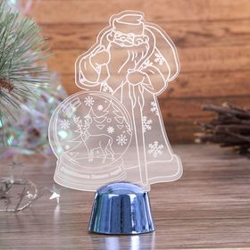 """Подставка световая """"Дед Мороз, Олень в шаре"""", 14.5х9 см, 1 LED, RGB микс - фото 1584155"""