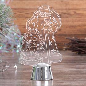 """Подставка световая """"Дед Мороз, Олень в шаре"""", 14.5х9 см, 1 LED, RGB микс - фото 1584156"""
