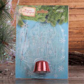 """Подставка световая """"Дед Мороз, Олень в шаре"""", 14.5х9 см, 1 LED, RGB микс - фото 1584158"""