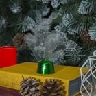 """Подставка световая """"Снеговик на коньках"""", 14.5х10.5 см, 1 LED, RGB микс - фото 1584169"""