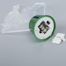 """Подставка световая """"Снеговик на коньках"""", 14.5х10.5 см, 1 LED, RGB микс - фото 1584171"""