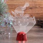 """Подставка световая """"Снеговик на коньках"""", 14.5х10.5 см, 1 LED, RGB микс - фото 1584173"""