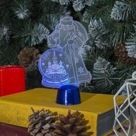 """Подставка световая """"Дед Мороз, Москва"""", 14.5х9 см, (батарейки в компл.), 1 LED, RGB микс"""