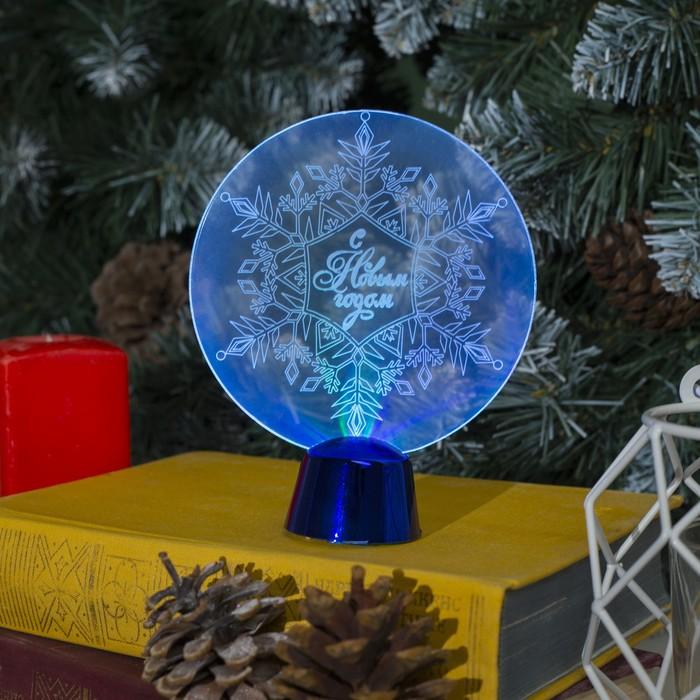 """Подставка световая """"Снежинка"""", 13.5х11 см, (батарейки в компл.), 1 LED, RGB микс"""