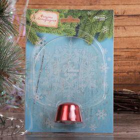 "Подставка световая ""Снежинка"", 13.5х11 см, (батарейки в компл.), 1 LED, RGB микс - фото 1584182"