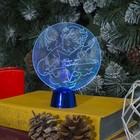 """Подставка световая """"Ангел"""", 13.5х11 см, 1 LED, батарейки в комплекте, RGB микс"""