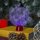 """Подставка световая """"Зимний пейзаж"""", 13.5х11 см, 1 LED, RGB микс - фото 1584184"""