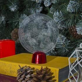 """Подставка световая """"Зимний пейзаж"""", 13.5х11 см, 1 LED, RGB микс - фото 1584185"""