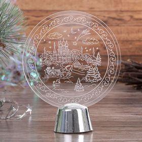"""Подставка световая """"Зимний пейзаж"""", 13.5х11 см, 1 LED, RGB микс - фото 1584188"""