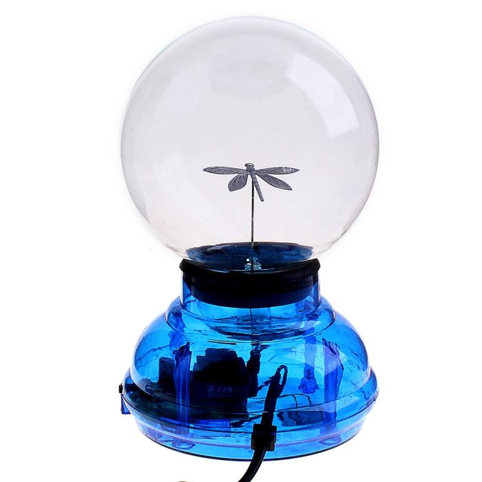 "Плазменный шар ""Стрекоза"" синий"