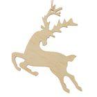 """New year's suspension """"Prancing reindeer"""", beige, 7 cm + string"""
