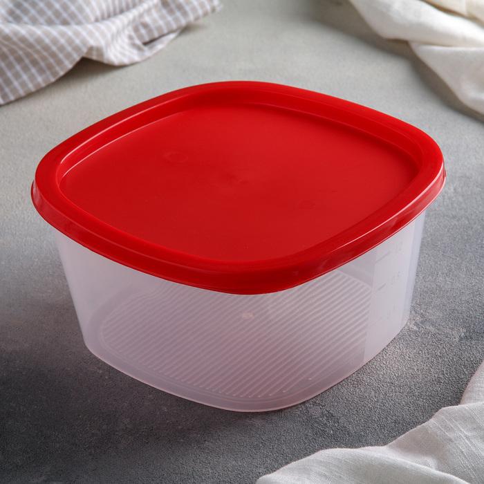Контейнер пищевой 1,55 л BioFresh, квадратный, цвет оранжевый