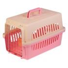 Переноска пластиковая VP-1 с замком, 48 х 31 х 31 см, розовая