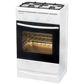 Плита газовая Terra GS 5204 W, 2 конфорки, 35 л, газовая духовка, белая
