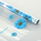 """Пленка для цветов """"Маргаритка"""" голубой 700 мм х 8.5 м"""