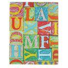 """Колледж-тетрадь, интегральная обложка А5, 64 листа клетка """"Графика. Яркие буквы"""", матовая ламинация"""