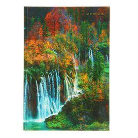 """Колледж-Тетрадь А5, 100 листов в клетку """"Пейзаж. Прекрасная осень"""", твердая обложка, глянцевая ламинация, сшитый блок"""