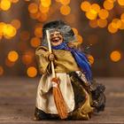 Баба - Яга с метлой, цвета МИКС