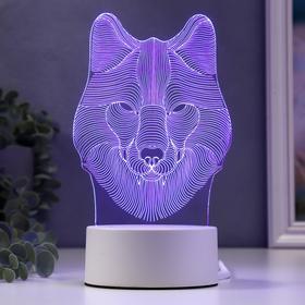 """Светильник """"Волк"""" от сети 9,5x11,5x20 см"""