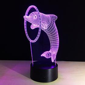 """Светильник """"Дельфин"""" от сети 10,5x13x20,5 см"""