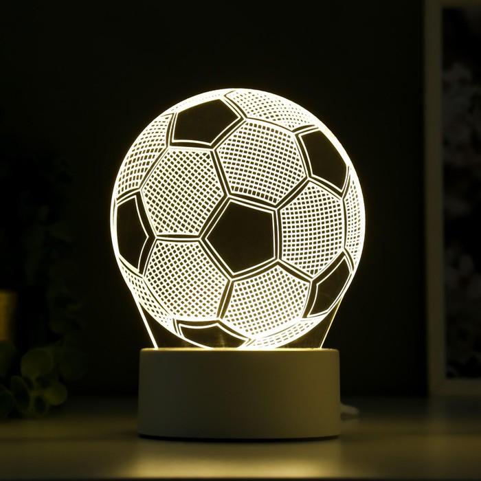 Светильник «Футбольный мяч», работает от сети, 10,5 × 13 × 20,5 см