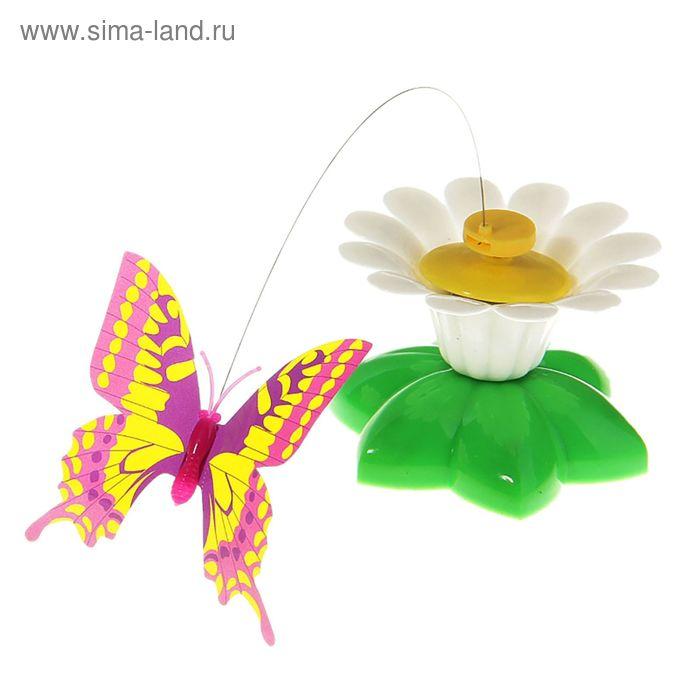 """Летающая """"Бабочка"""" вокруг цветка, цвета МИКС"""