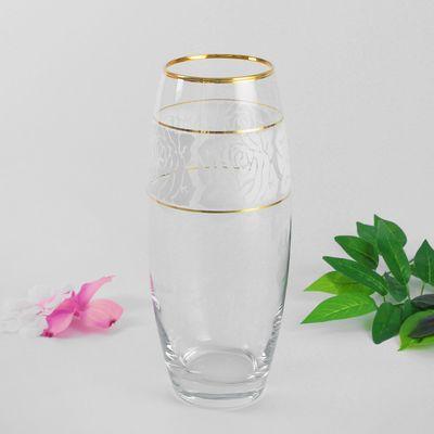 """Ваза для цветов """"Белые розы"""" d-7,5х11х26 см"""