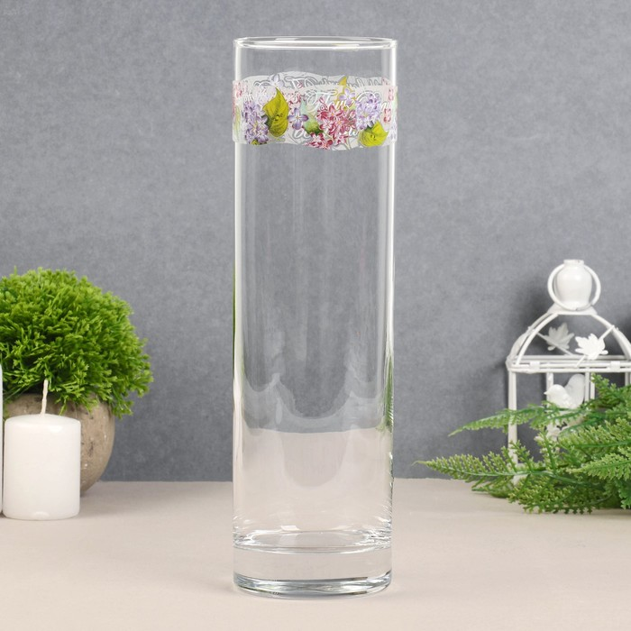 """Ваза для цветов """"Сирень"""" цилиндр, 26,5 см"""