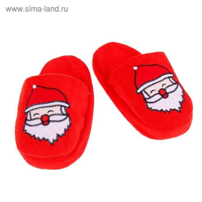 "Мягкие тапочки ""Дед Мороз"""