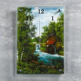 """Часы настенные, серия: Природа, """"Домик"""", 25х35  см, микс"""