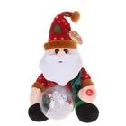 """Мягкая интерактивная игрушка """"Дед Мороз"""", снежный шар крутится"""