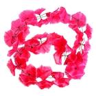 """Гавайская гирлянда """"Плюмерия"""", цвет ярко-розовый"""