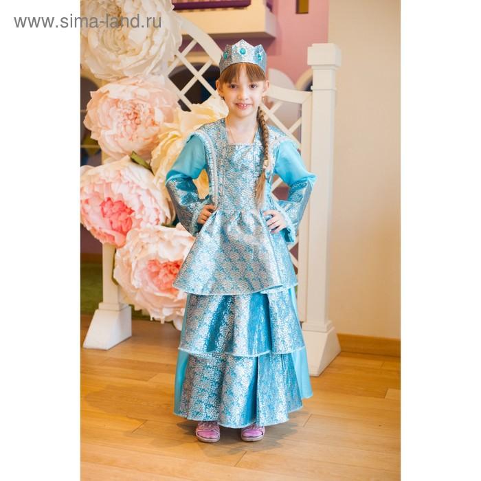 """Карнавальный костюм """"Принцесса"""", подъюбник, платье, корона, р-р M, 120-130 см, 7-9 лет"""