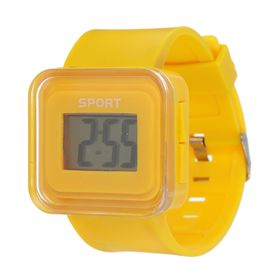 Wrist electronic watch, silicone strap, dial square 1.5x2.5 cm mix
