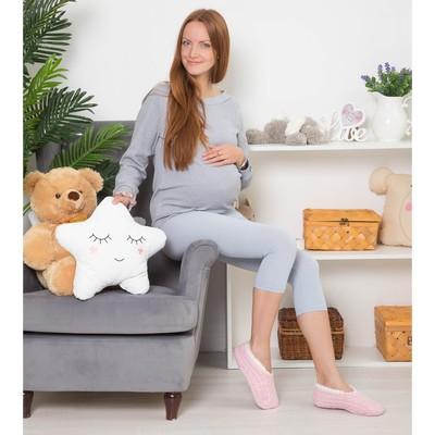 Бриджи домашние для беременных (низкие с поддержкой спины), р-р универсальный, цв. голубой