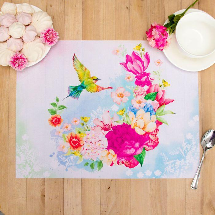"Салфетка на стол ""Чудесный сад"" 30*40 см, 100% п/э, оксфорд 420 г/м2 - фото 448957339"