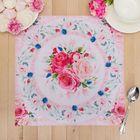"""Салфетка на стол """"Цветы"""" 30*30 см, 100% п/э, оксфорд 420 г/м2"""