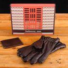 """Подарочный набор """"Любимому папе"""": перчатки и зажим для денег, экокожа - фото 1748682"""