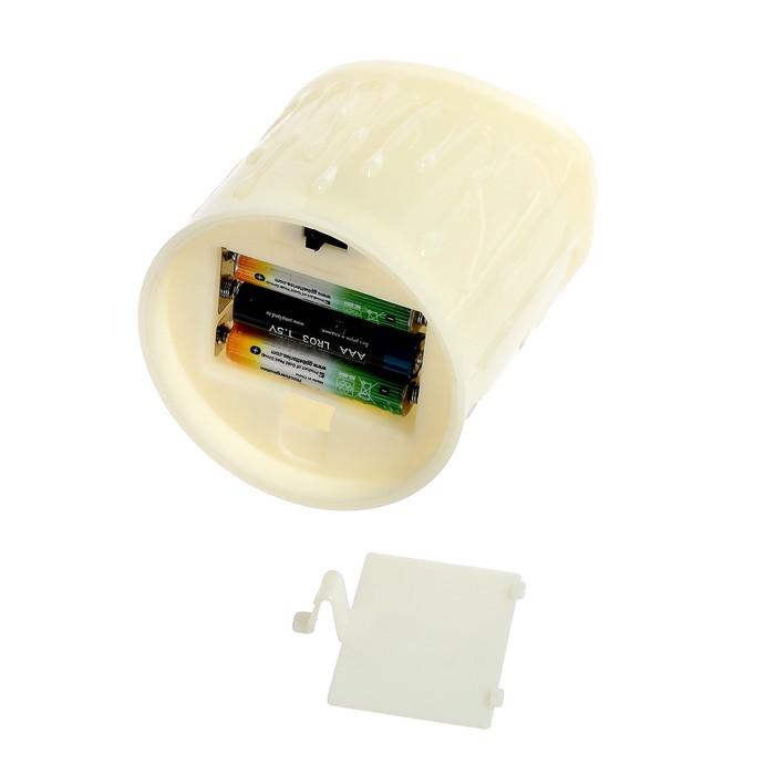 """Свеча светодиодная """"Мерцание"""", горит жёлтым"""