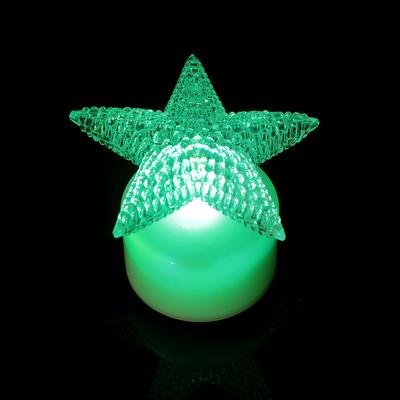 """Свеча светодиодная """"Звезда"""", переливается разными цветами"""